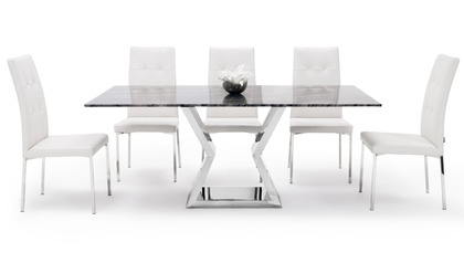 Grigio Dining Table Set with Chairs