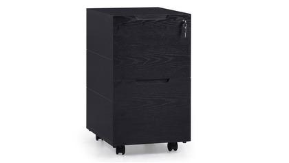 Hayes Mobile Filing Pedestal - Black Oak