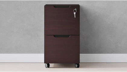 Hayes Mobile Filing Pedestal - Dark