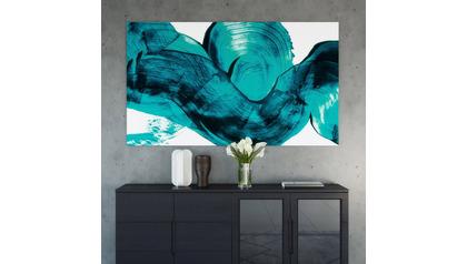 "Cerulean Blur Canvas Art - 72"" x 48"""