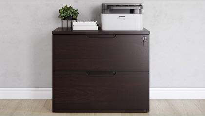 Hayes Lateral Filing Cabinet - Dark