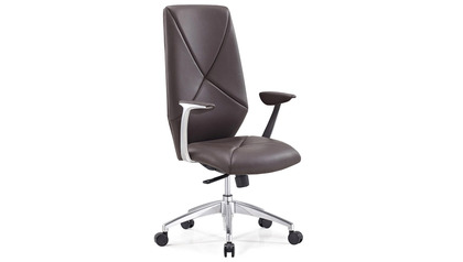 Hearst Leather Executive Chair-Brown
