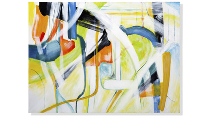"Iberian Graffiti Canvas Art - 96"" x 70"""