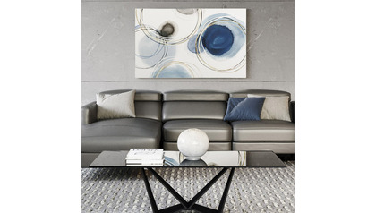 "Inkwell Ripples Canvas Art - 80"" x 50"""