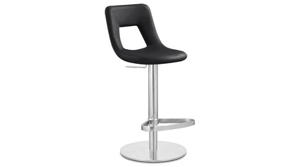 Black Jazz Bar Stool - Round Flat Base