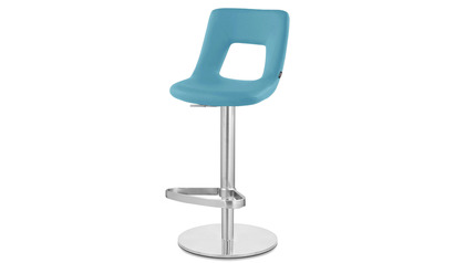 Jazz Bar Stool - Round Flat Base - Teal