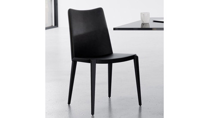 Jordan Dining Chair - Black / Black Steel