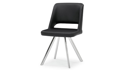 Juneau Dining Chair - Polished Stainless