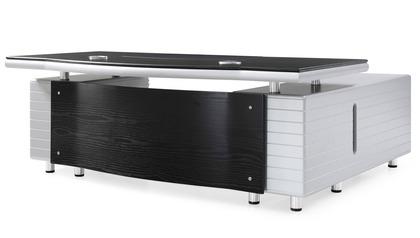 Kennedy Desk with Return - Black