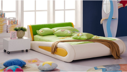 Kermit Leather Kids Bed