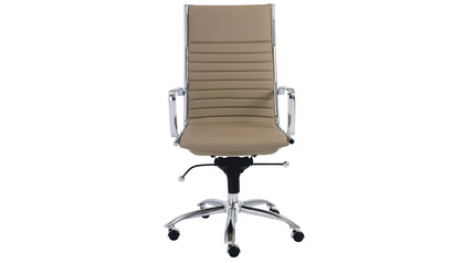 Kinsey High Back Office Chair - Chrome Base