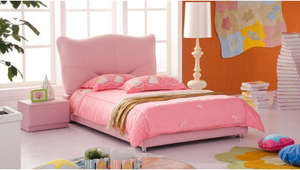 Kitty Leather Kids Bed