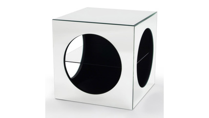 Kube Mirrored End Table