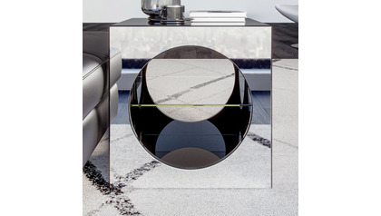 Kube Mirrored Accent Table