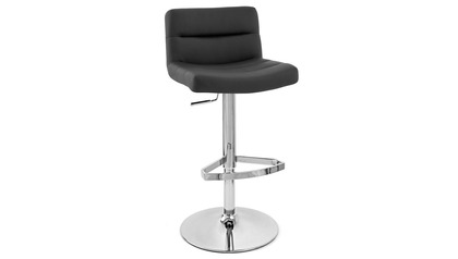 Black Lattice Bar Stool