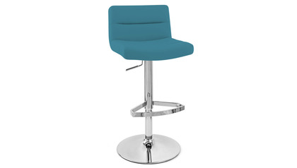 Light Blue Lattice Bar Stool