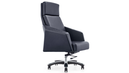 Lauren Leather Executive Chair-Black