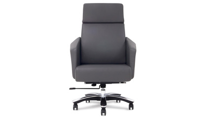 Lauren Leather Executive Chair-Dark Grey