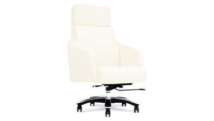 Lauren Leather Executive Chair-Cream