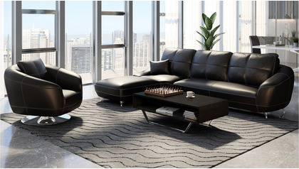 Lucy Sectional Set - Black