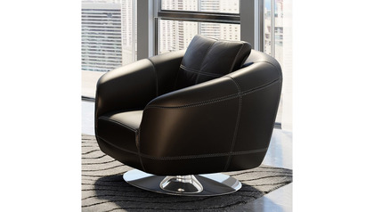 Lucy Swivel Chair - Black