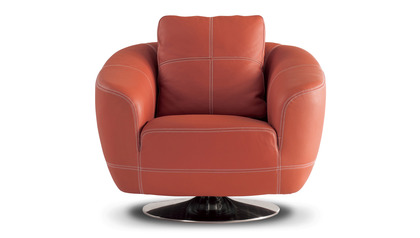 Lucy Swivel Chair - Orange