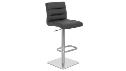 Black Lush Bar Stool - Square Base
