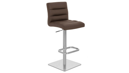 Brown Lush Bar Stool - Square Base