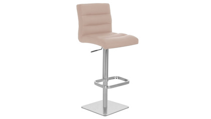 Taupe Lush Bar Stool - Square Base