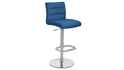 Dark Blue Lush Bar Stool