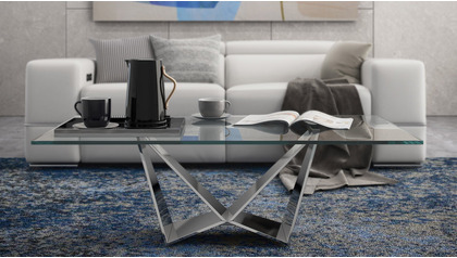 "Serra 51"" Coffee Table - Clear"