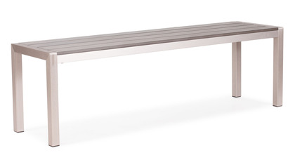 Luzern Bench Brushed Aluminum