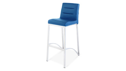 Lynx Dark Blue Bar Stool