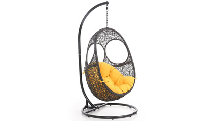 Malaga Swing Chair - Black