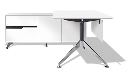 Darin Executive Desk with Left Return Cabinet
