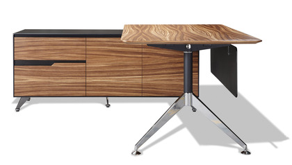 Darin Executive Desk with Left Return Cabinet