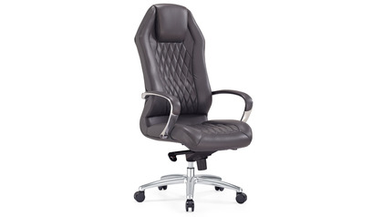 Sterling Leather Executive Chair - Dark Grey