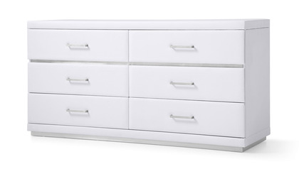 Henley Accent Chest - White
