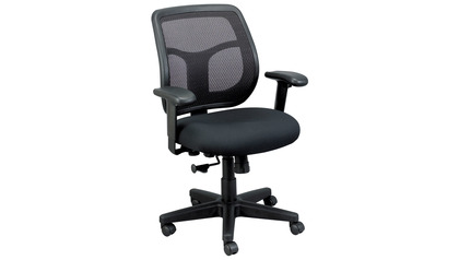 Apollo Mesh Back Swivel Chair with Fabric Seat