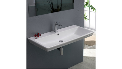 Arica Rectangle Ceramic 39 Inch Sink