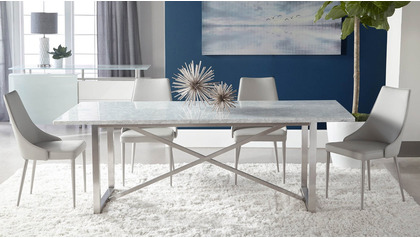 Avenza 87 Inch Marble Dining Table