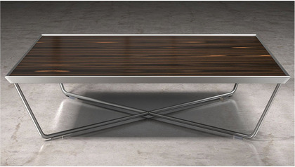 Cace 39 inch Coffee Table - Ebony on Stainless