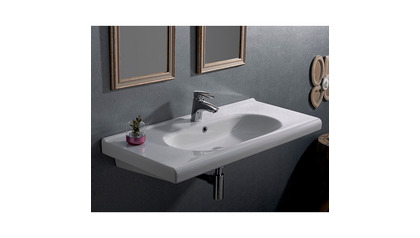 City Rectangle Ceramic 39 Inch Sink