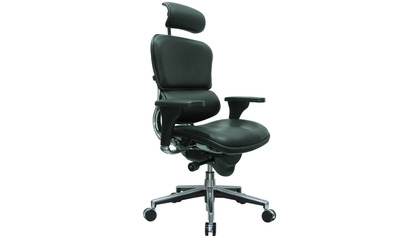 Ergohuman Leather Swivel Chair with Headrest