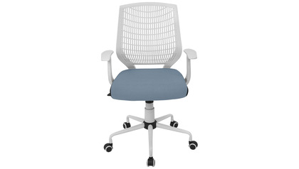 Hex Office Chair, White/Smoked Blue