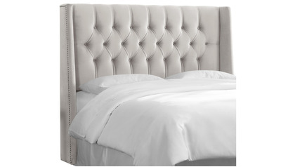 Evie Nail Button Tufted Wingback Headboard - Full