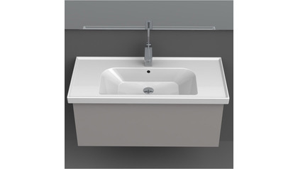 Frame Rectangle Ceramic 32 Inch Sink