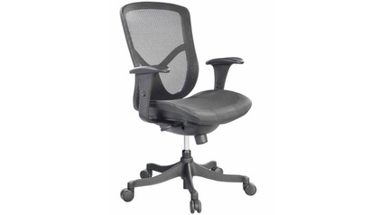 Fuzion Mesh Back Swivel Chair- Black Frame