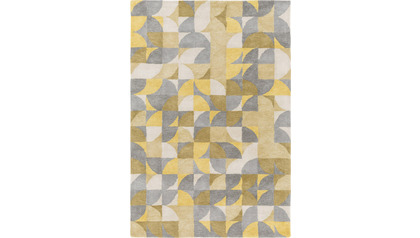 Brilliance Area Rug - Yellow Pattern