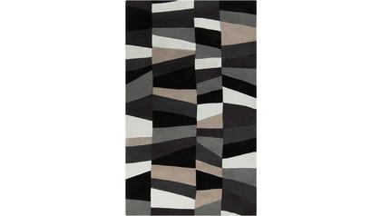 Cosmopolitan Area Rug - Light Gray/Charcoal